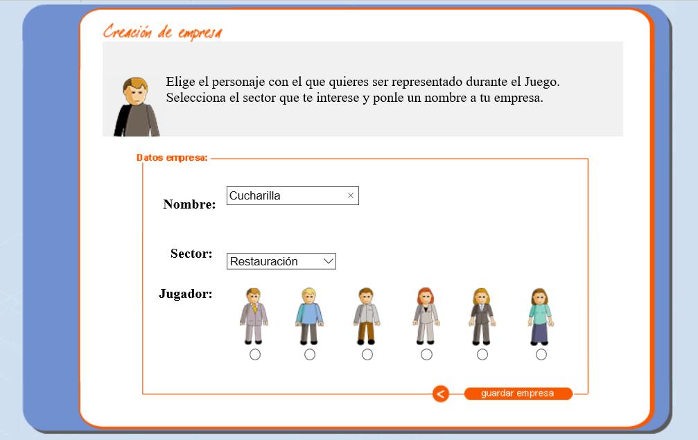 Simula Virtual para crear una empresa