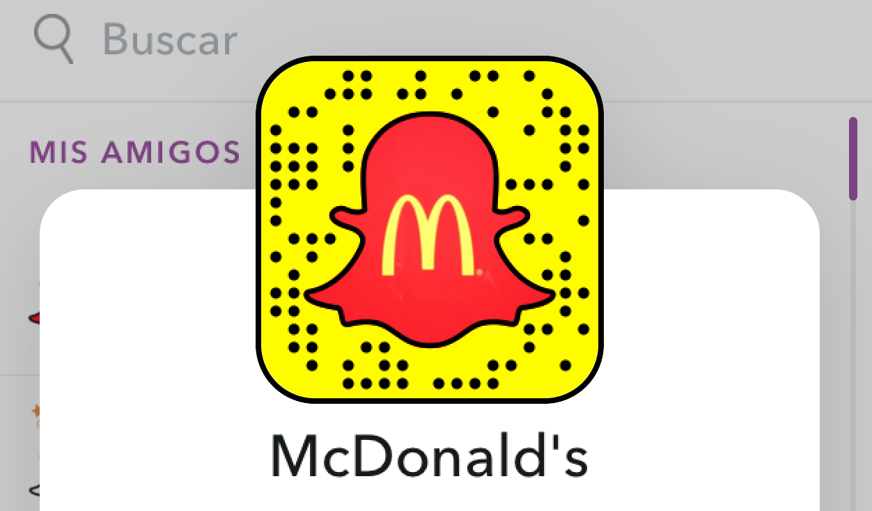 McDonalds en Snapchat