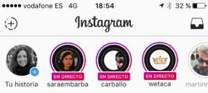 Video directo Instagram