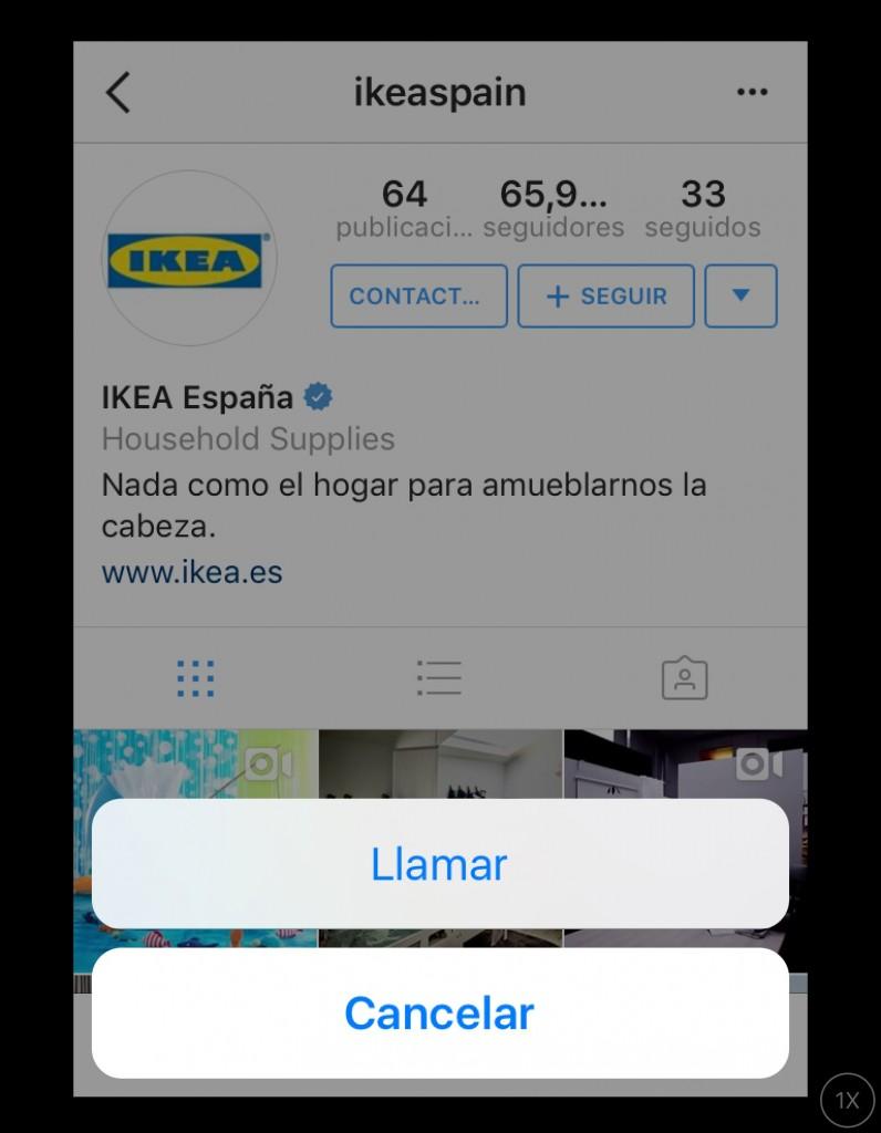 El perfil de IKEA en Instagram