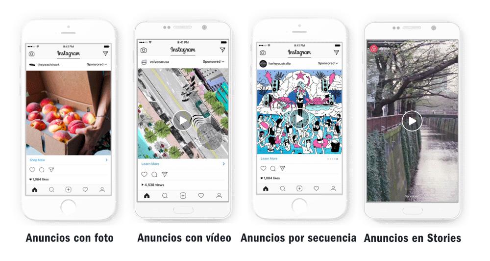 Tipos de anuncios que puedes crear en Instagram