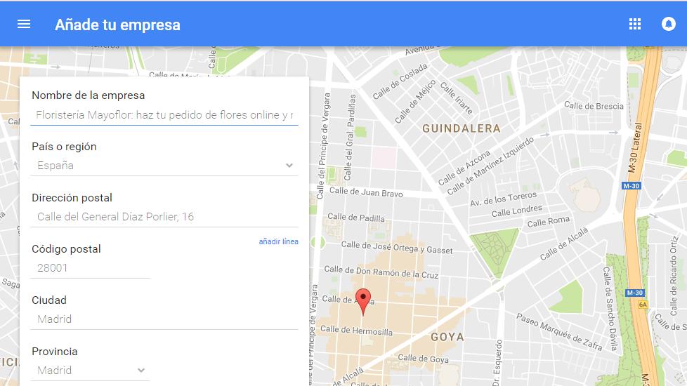 Introduce los datos de tu negocio en Google My Business