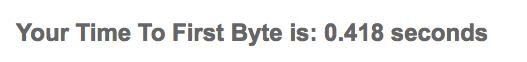Los datos que ofrece Bytecheck para medir la velocidad de carga de una web