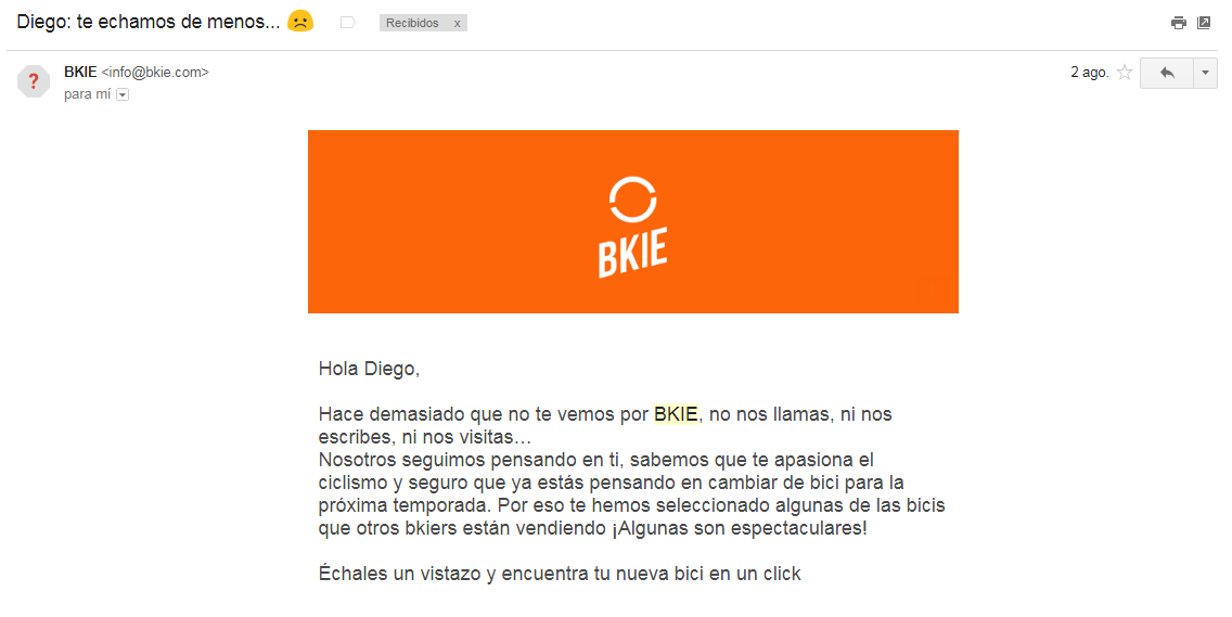 ejemplo de mail para clientes