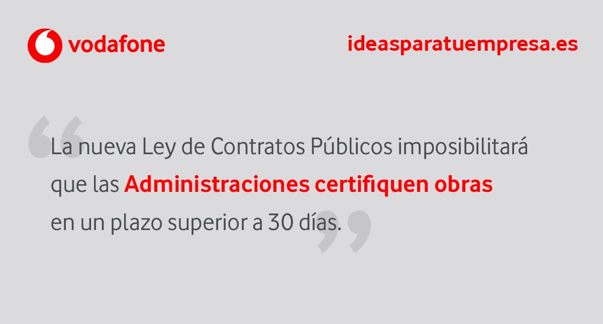 La nueva Ley de Contratos Públicos incide en los plazos