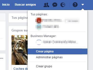 Crea tu página de Facebook desde tu perfil personal