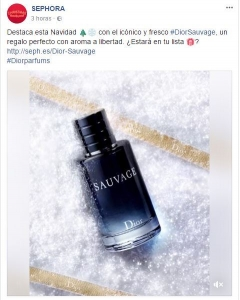 Sephora, en la red social Facebook