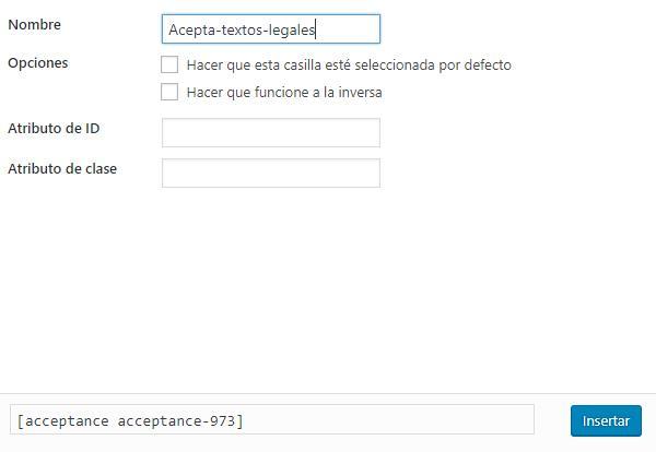 Contact Form 7 tratamiento con datos de carácter personal