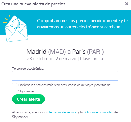 Doble Opt-in_Skyscanner