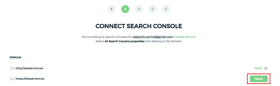 Connect Search Console