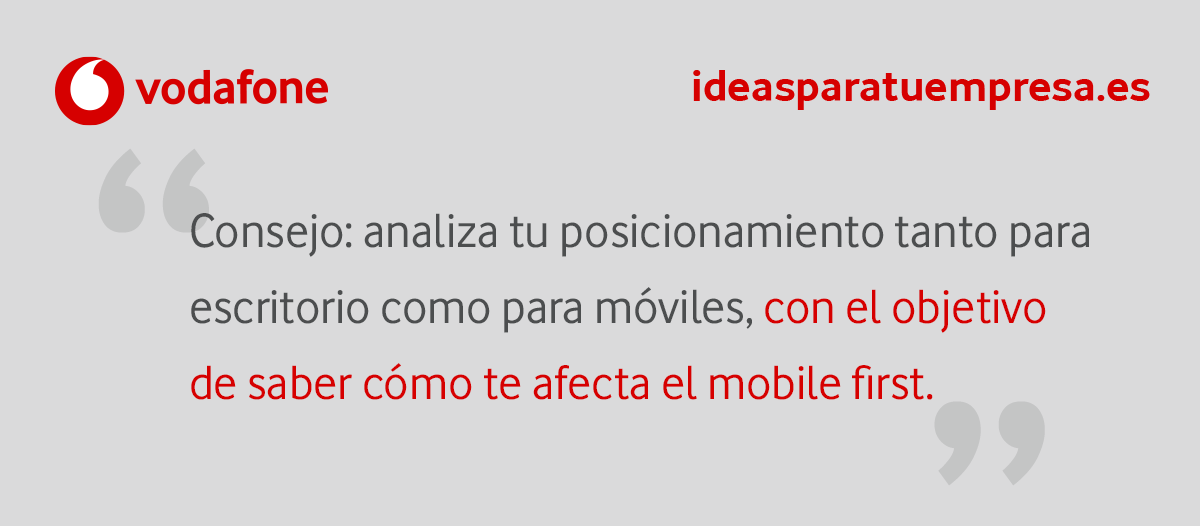 Un consejo sobre Mobile First Index.