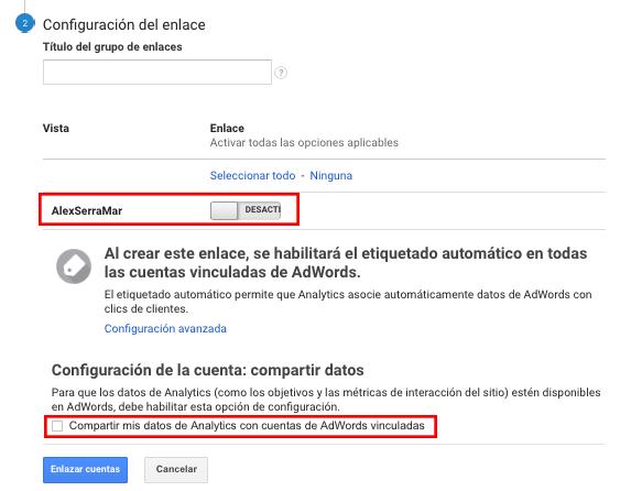Pasos para configurar Google AdWords