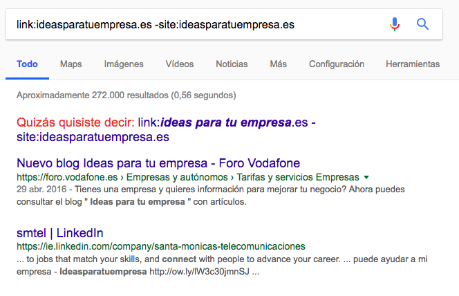 link footprints Google