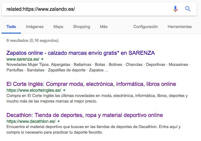 related Footprints de Google