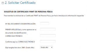 Cómo solicitar el certificado digital como persona física