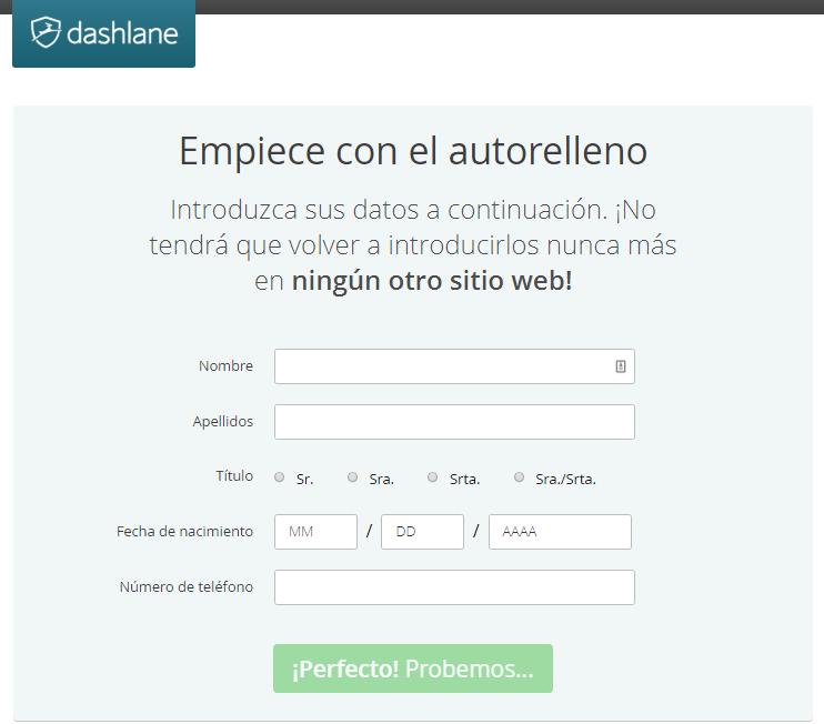 Dashlane: gestión de contraseñas