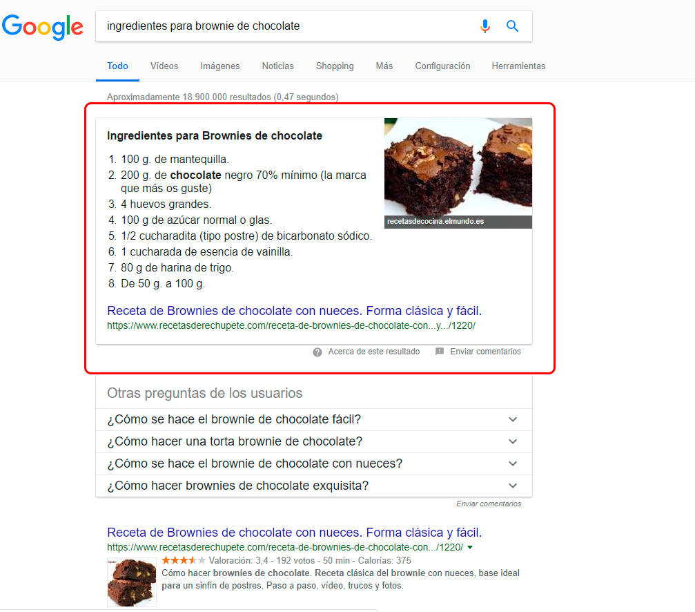 que es un featured snippet