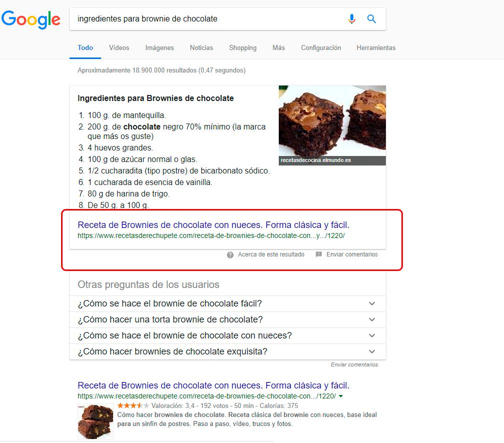 que son los fragmentos destacados de google