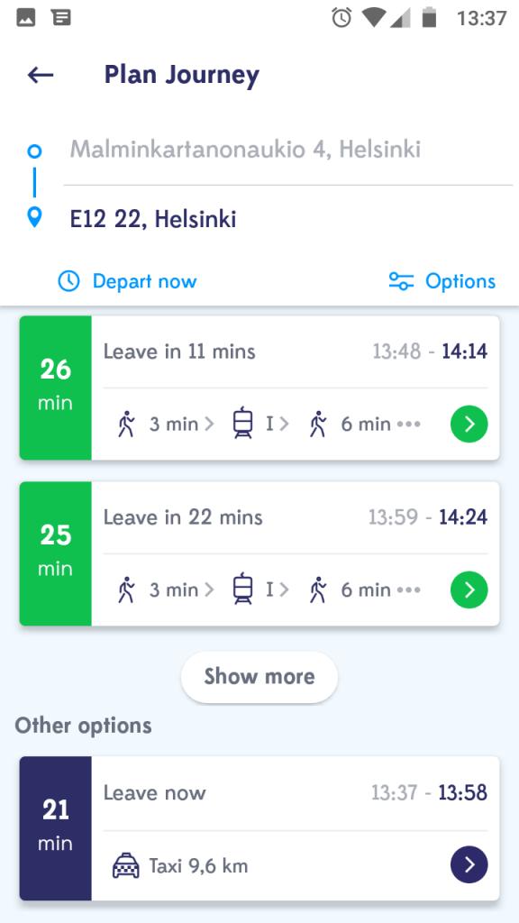 App Whim Helsinki