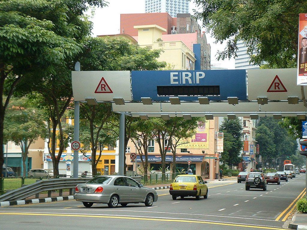 Peaje wireless en Singapur