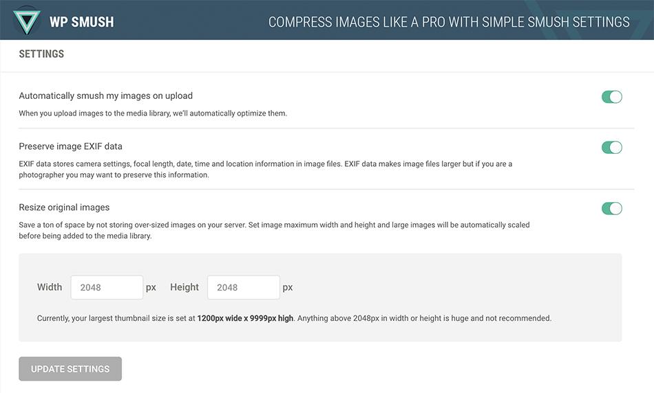 WP Smush para reducir el peso de las imágenes de tu web
