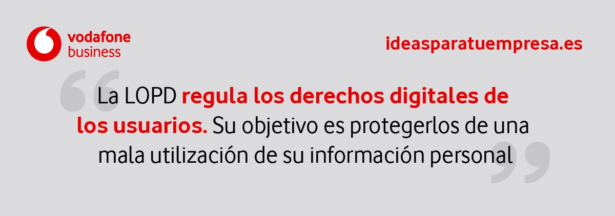 LOPD regula los derechos digitales de los usuarios