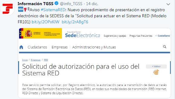 Tuit seguridad social Sistema RED