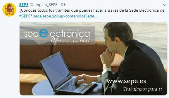 Tuit sede electrónica SEPE
