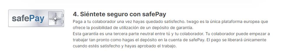Twago - cómo funciona safePay