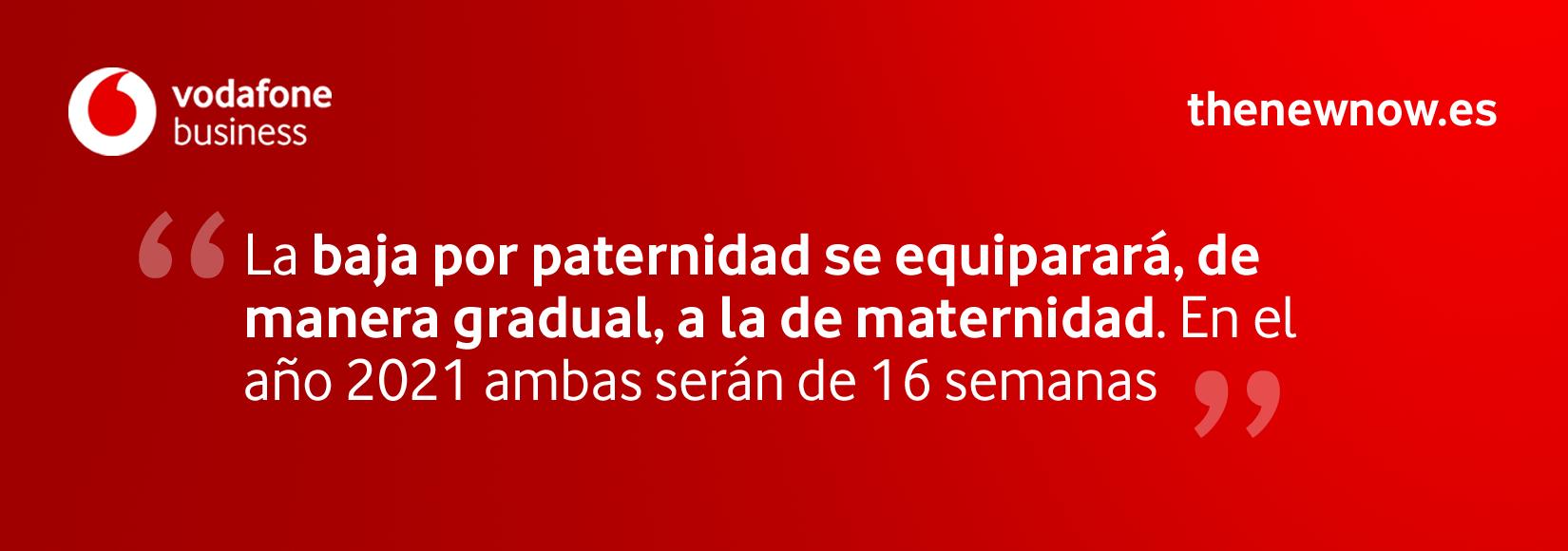 Equiparación baja por paternidad