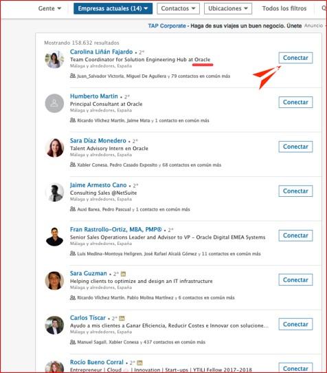 Cómo buscar una empresa en Linkedin