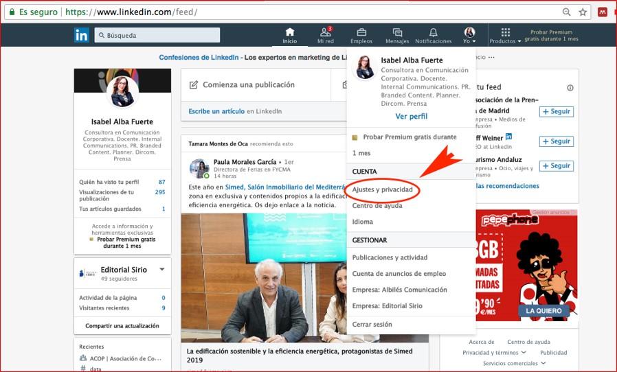 Cómo personalizar la url en Linkedin