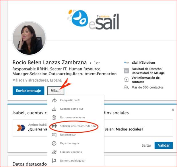 Cómo solicitar una recomendación en Linkedin