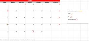 Mes calendario