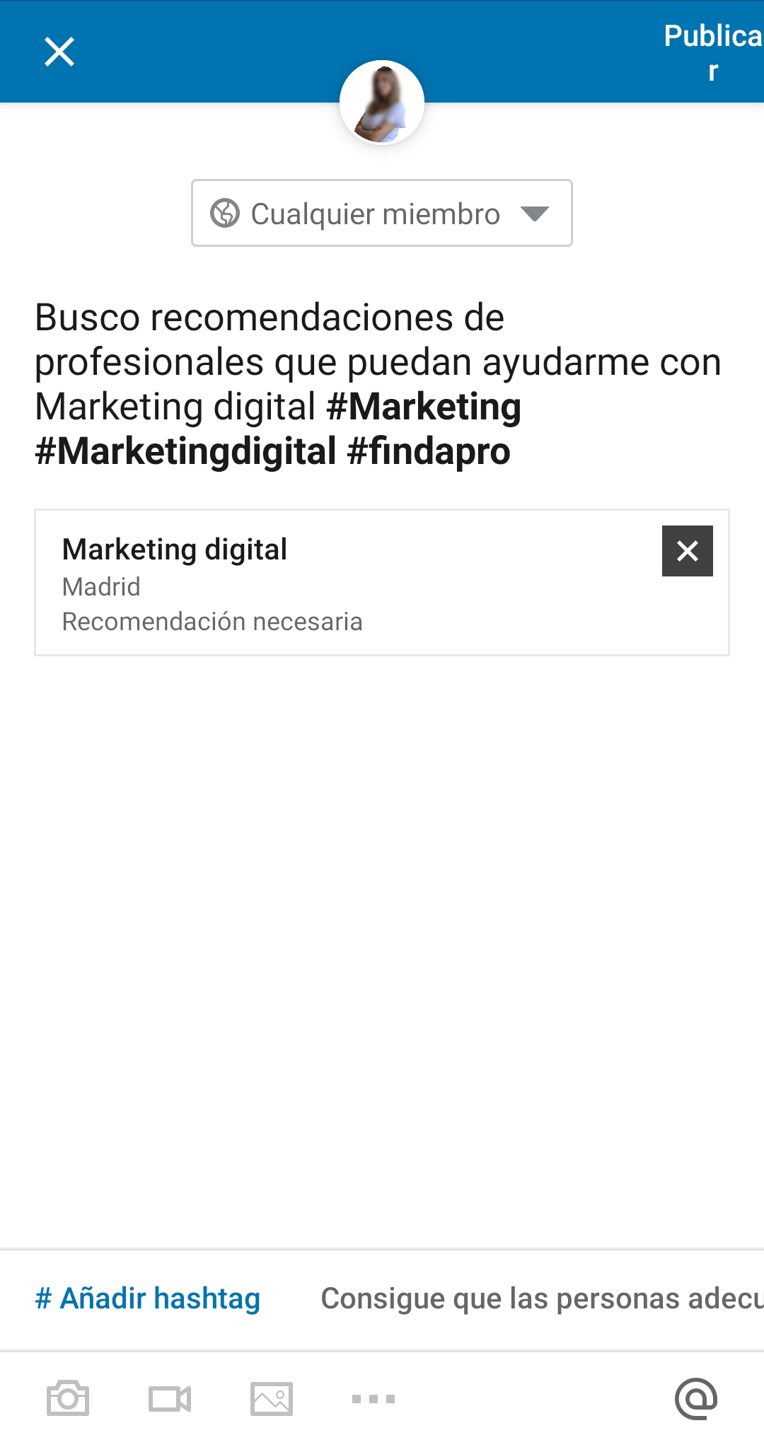 Paso 4 LinkedIn freelances
