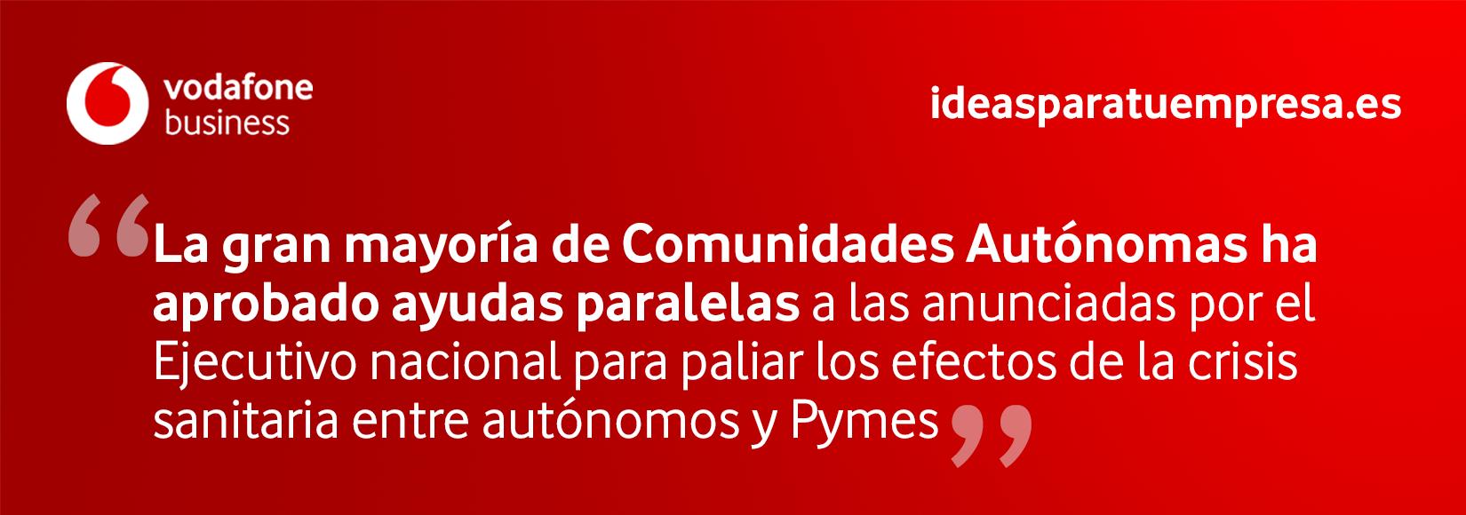 Medidas autónomos y pymes comunidades