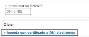 Alta certificado electrónico