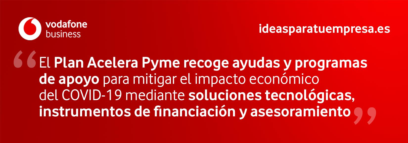 Plan Acelera Pyme de financiación y asesoramiento